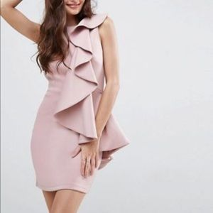 Dusty rose cocktail dress